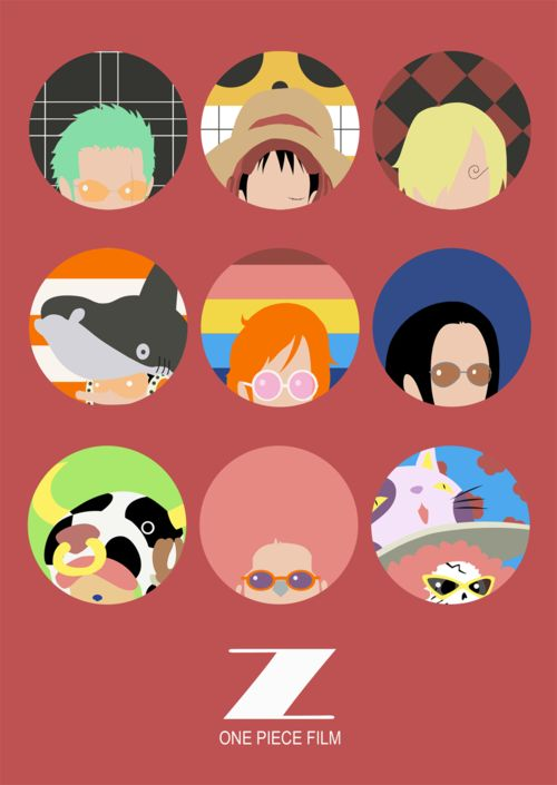 One Piece FILM Z icons. These could be cool buttons or something.
