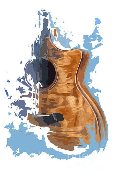New art print on sale #guitar #blue