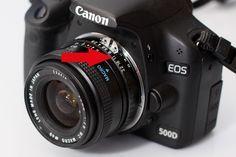 Manche Objektive verfügen noch über einen Blendenring (insbesondere ältere oder manuelle Objektive), an denen sich die Blende fest einstellen lässt