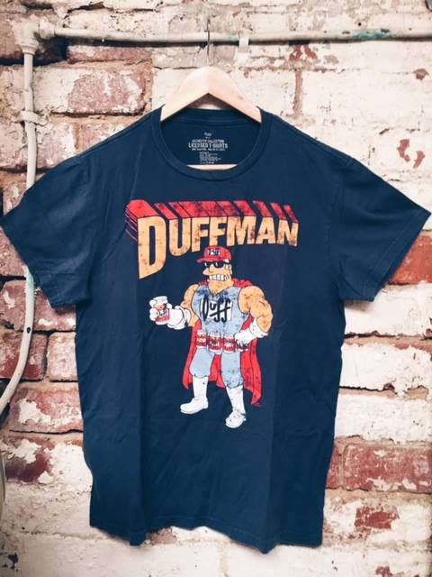 The Duffman! This bad boy is available online today www.storehousecharity.com