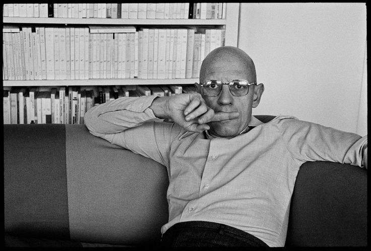 Martine Franck. French philosopher Michel Foucault at home. France. Paris. 1978.