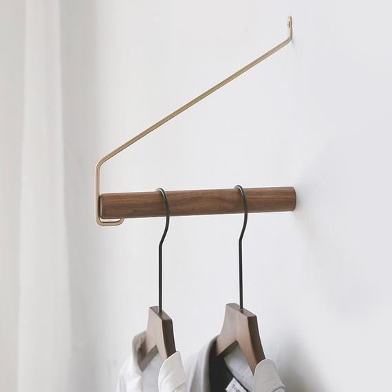 Anaan Coordinate Design Wandhaken Holz Kleiderstange Wandmontage Garderobenhaken Kleiderhaken Wanddeko Messing 22 Cm Wall Mounted Coat Hanger Clothes Rail Coat Hooks On Wall
