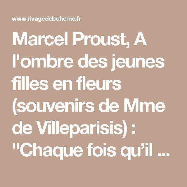"""Marcel Proust, A l'ombre des jeunes filles en fleurs (souvenirs de Mme de Villeparisis) :  """"Chaque fois qu'il faisait clair de lune autour du château, s'il y avait quelque invité nouveau, on lui conseillait d'emmener M. de Chateaubriand prendre l'air après le dîner. Quand ils revenaient, mon père ne manquait pas de prendre à part l'invité : « M. de Chateaubriand a été bien éloquent ? — Oh ! oui. — Il vous a parlé du clair de lune. — Oui, comment savez-vous ? — Attendez, ne vous a-t-il pas…"""