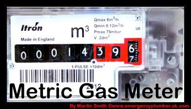Looking to know what an metric gas meter readings look like