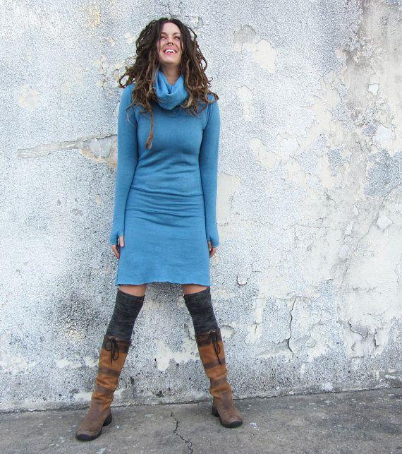 The Short Pokara Dress  (hemp/organic cotton fleece) on Etsy, $155.00