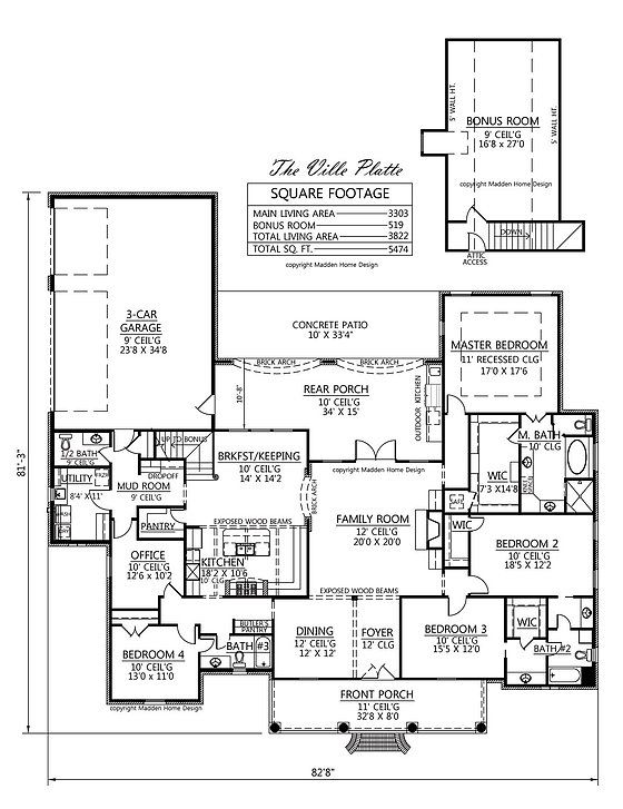 17 best images about new home on pinterest french for Madden house plans