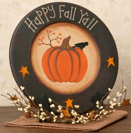 Pinterest primitive fall crafts | counrty+fall+crafts | Primitive Happy Fall Yall Pumpkin Crow Star Wood ...