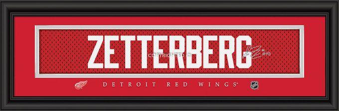 "Detroit Red Wings Henrik Zetterberg Print - Signature 8""""x24"""""