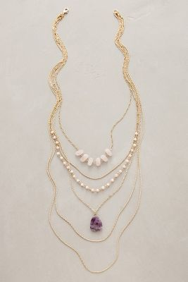 Anthropologie Violett Layer Necklace
