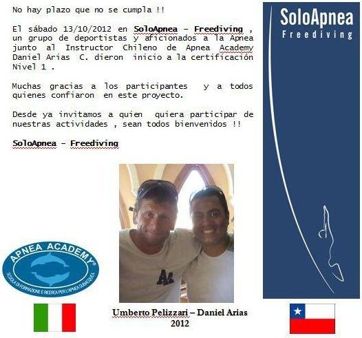 1er Curso Apnea Academy en Chile.