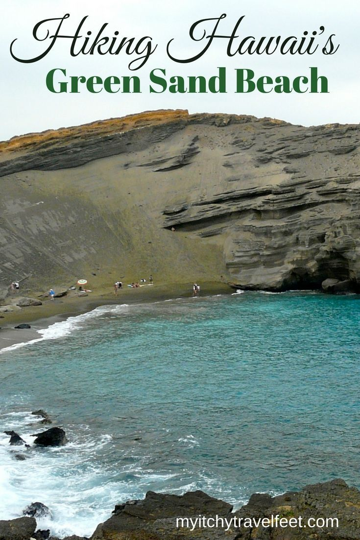 Hiking to the Green Sand Beach on Hawaii is a fun off-the-beaten-path Big Island adventures. Click through to read about one of our favorite travel adventures in Hawaii.