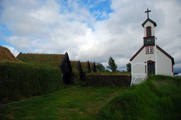 The oldest hall in Iceland was written of in the Sagas and features a centuries-old escape tunnel