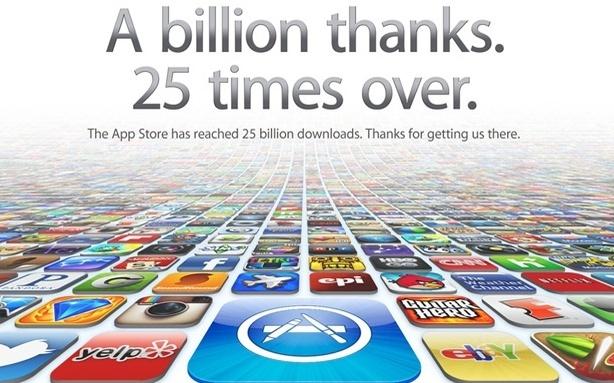 Apple Delivers Its 25 Billionth App