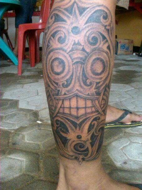 Dayak Motif Tattoo