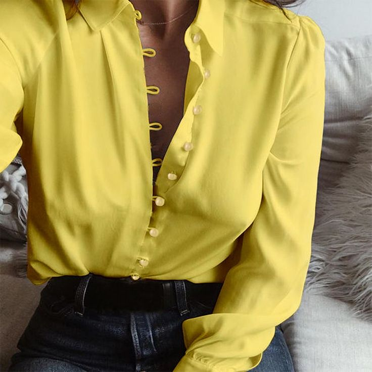 2018 Fashion ZANZEA Autumn Casual Long Sleeve Loose Party Blouse Women Elegant Solid Lapel Baggy Work Office Button Down Shirts