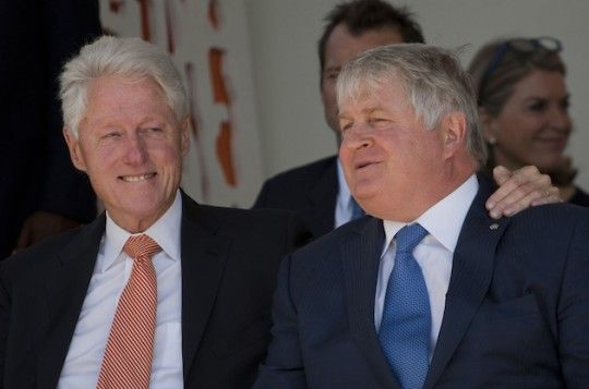 Bill Clinton and Denis O'Brien in Haiti. (AP) Oh, Denny Boy: How The Clintons Helped an Irish Telecom Tycoon Makes Millions in Earthquake Ravaged Haiti  BY: Andrew Stiles  May 7, 2015