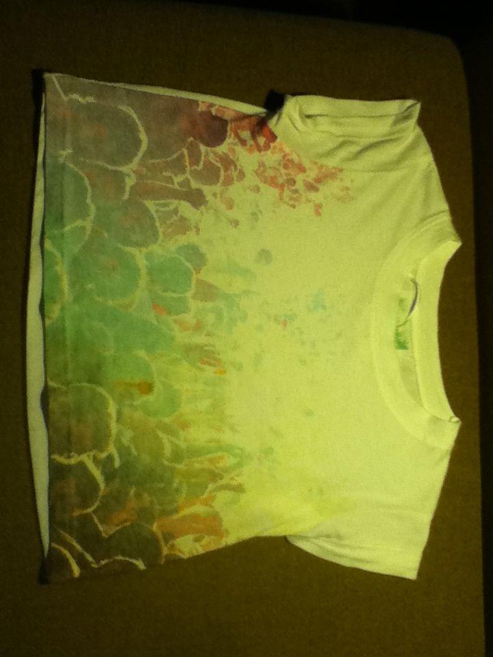 Kort shirt met disco print van primark