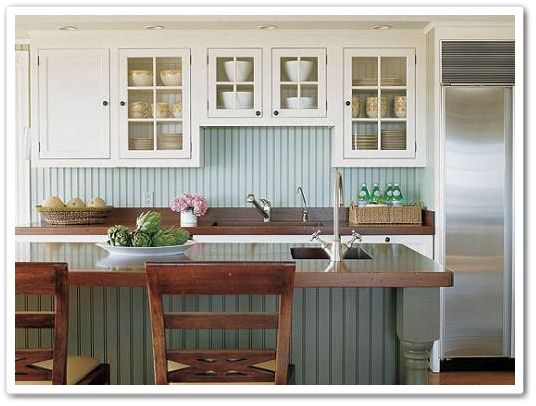Beadboard back splash: To Beadboard or Not to Beadboard - Town & Country Living