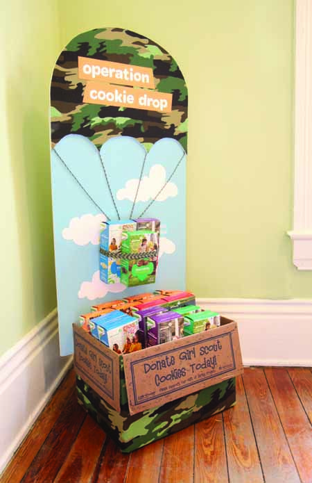 Looking for a way to encourage Gift of Caring purchases? Display your donated boxes! #GirlScoutCookies