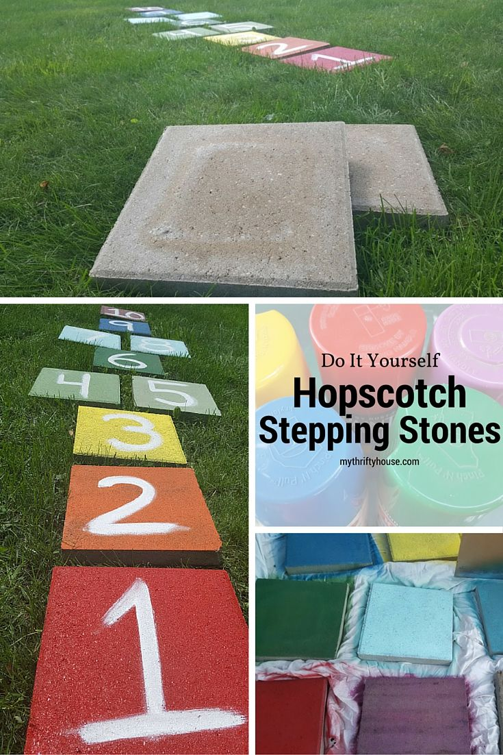I Was Inspired To Create Some Outdoor Activities For Our Summer Parties.  Use Garden Stepping