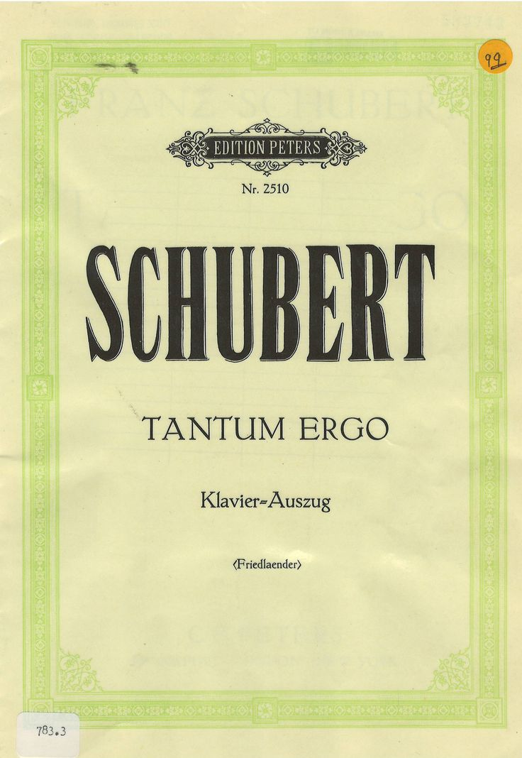 Sheet music by Franz Schubert edited by Peters (Edition C.F. Peters).
