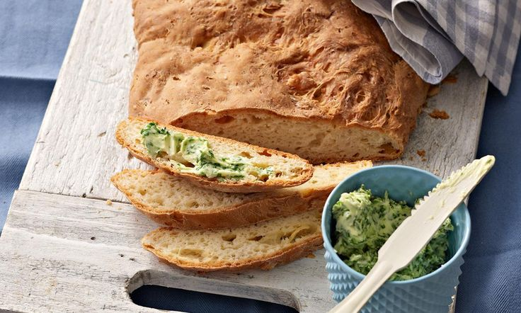 Drei-Käse-Brot mit Bärlauchbutter Rezept | Dr. Oetker