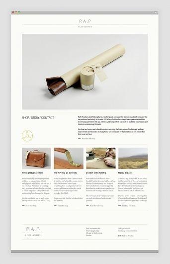 PAP Accessories Website Layout - Design Bureau