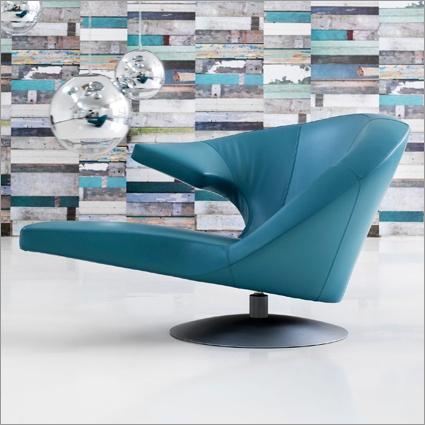 leolux parabolica swivel armchair by s. heiliger