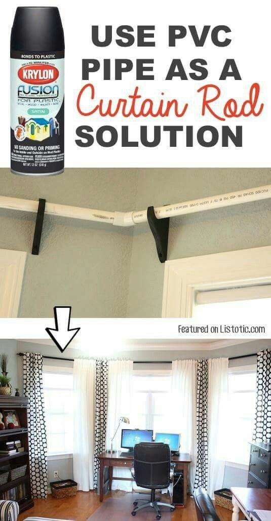 PVC pipe curtain rods