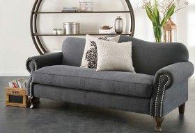 Barocca 3 Seater Sofa - Vintage Charcoal