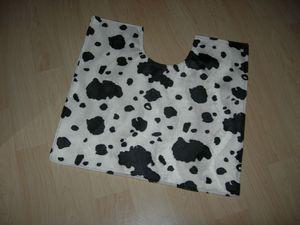 Tapis WC motif vache - Les Bricoles de l'Arsouille