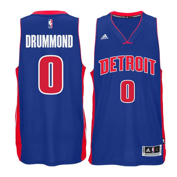 Andre Drummond Detroit Pistons adidas Swingman climacool Jersey - Blue - $87.99