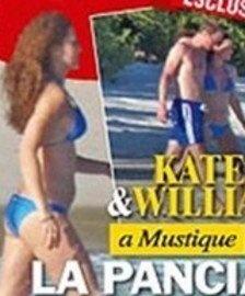 Fotos de Kate Middleton embarazada en biquini