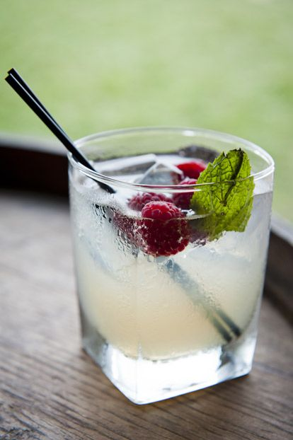 """""""Appalachian Cobbler"""" cocktail from our Barn Party at the Biltmore Estate in Asheville, NC. #GardenandGun Photo Credit: Emily T. Chaplin"""