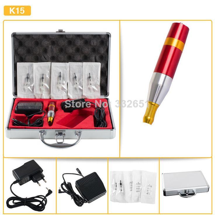 New Beginner tattoo kits K15 Professional Tattoo Machines & Permanent Makeup Eyebrow Machine Pen Tattoo Machine Kits $56.82