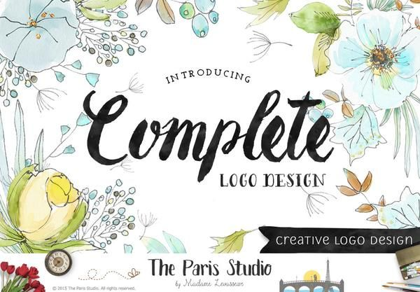 Complete Custom Logo Design: website branding, small business and boutique branding design #LogoDesign #Wordpress #Website  #boutique #Branding #restaurant #photography #ecommerce