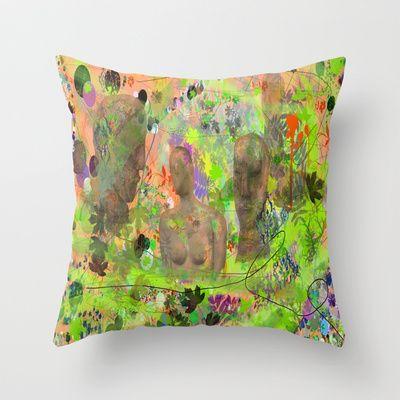 Botanical Figures Throw Pillow by andréart - $20.00
