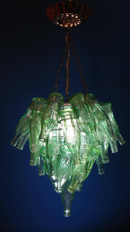 42 best coca cola bottle crafts images on pinterest light fixtures coke bottle chandelier this is a unique chandelier make sure you use arubaitofo Image collections