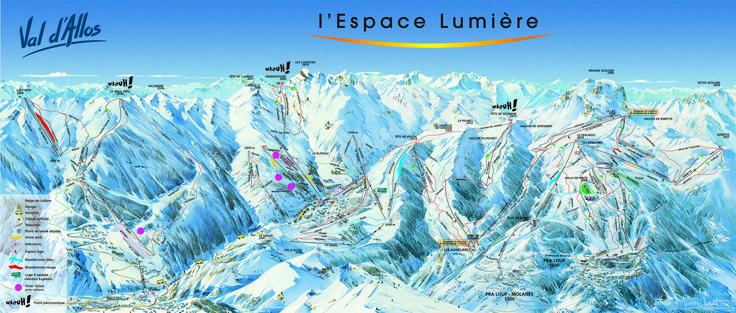 Plan des pistes de La Foux d'Allos.  http://www.valdallos.com
