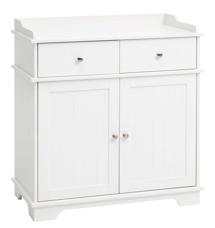 Byrå KARE 2 lådor 2 dörrar kombi vit | JYSK