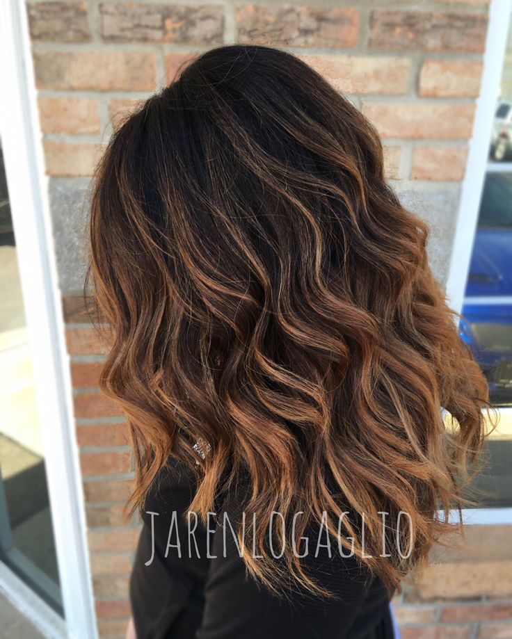 Balayage on dark hair. Hair ideas