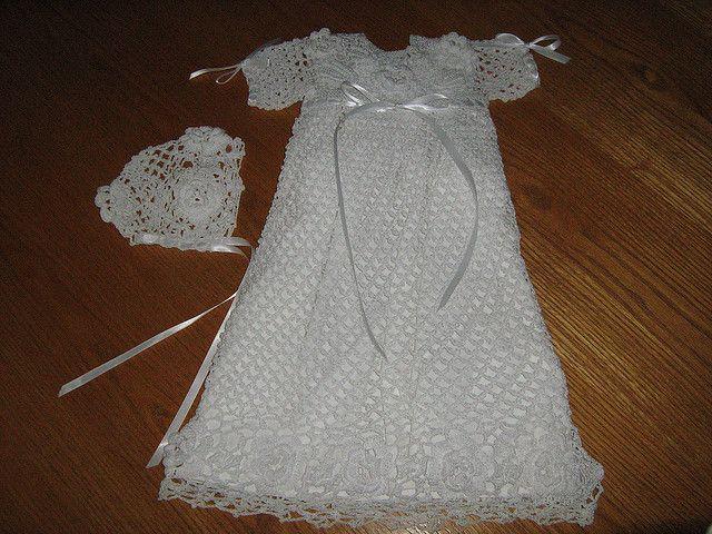 52 best Crochet Christening Gowns images on Pinterest | Crochet baby ...