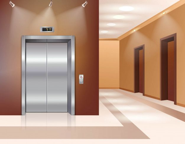 Download Hotel Or Office Building Hall With Closed Elevator Door for free in 2020 Episode interactive backgrounds Kitchen background Anime background