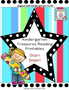 The Kindergarten Treasures Reading Start Smart Printables Packet was created by The Primary Place. There are 71 pages in this PDF file. This package was designed for the 2011 Treasures Edition. If you teach another edition, please be aware that some of th