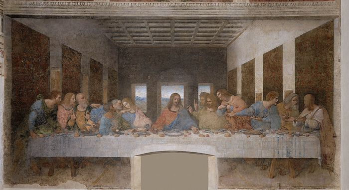 The Last Supper Painting at Santa Maria delle Grazie, Milan Italy