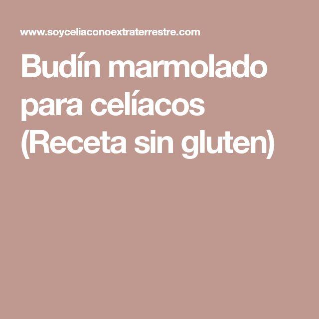 Budín marmolado para celíacos (Receta sin gluten)