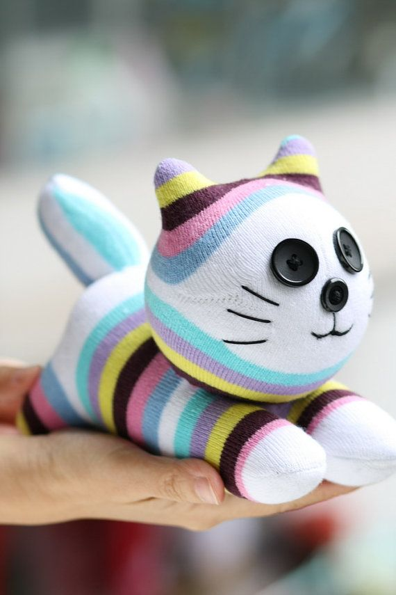 T8 Stuffed cat doll toy plush Personalized cat boho doll animals eco Easter Toy baby shower gift C51