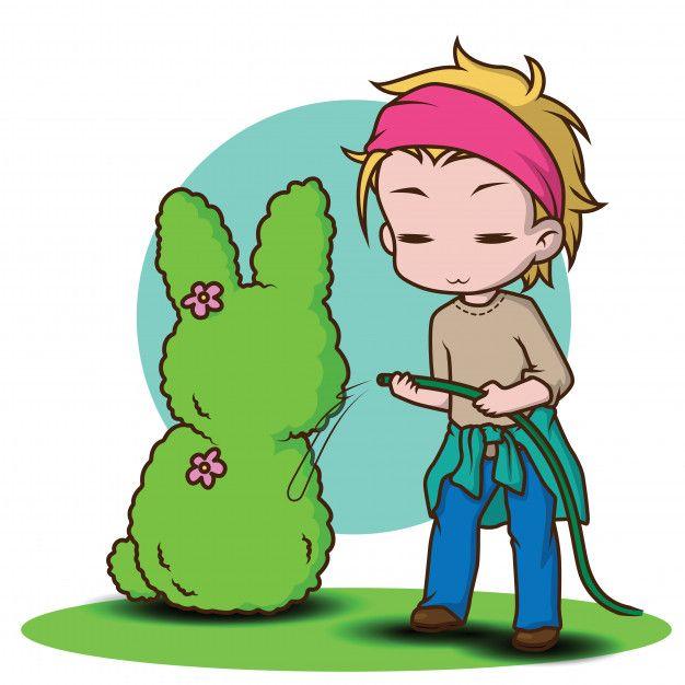 Cute Gardener Character In 2020 Chibi Character Illustration