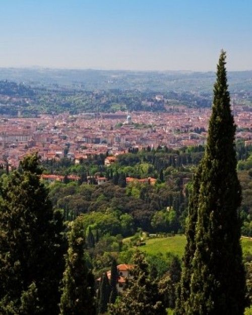 High up in the Florentine hills, Villa Fiesole peers over the Tuscan capital.
