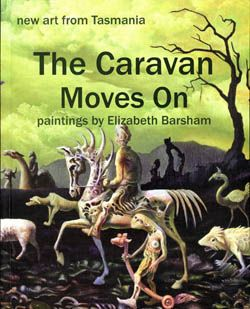 book cover - new hardback published in November 2014 - photographs of a hundred paintings by Elizabeth Barsham - on sale now from http://tasmanian-gothic.com/index.html